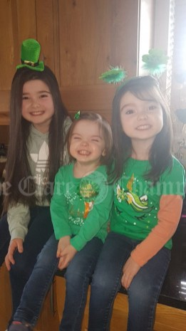 Sarah 8, Elsie 2, and Gracie,4 The Garry Sister's from Kildysart, not letting Isolation break their smiles and spirits and lighting up the all family WhatsApp groups this morning.