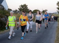 Walkers participating in last Friday's Moonlight to Midnight walk in aid of the RNLI.