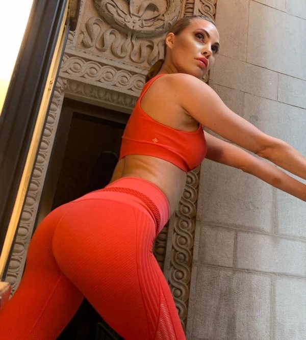 young girls in yoga pants