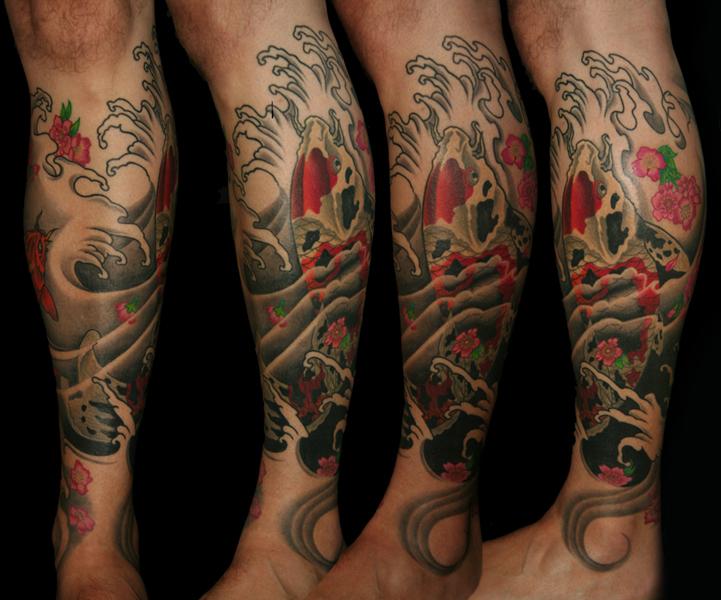 clareketon_tattoo_fish_oriental_leg