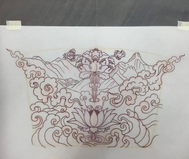 clareketon_tattoos_wip_stencil_back_lotus_waves