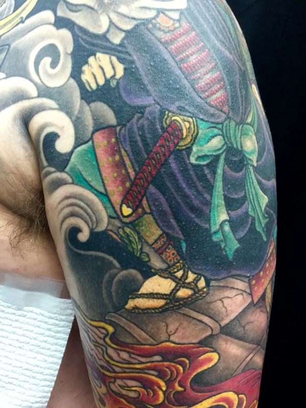 ClareKetonTattoos_Warrior_sleeve_oriental