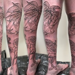 Work in Progress - Flower Leg Sleeve Sequence