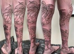 Work in Progress - Flower Leg Sleeve Sequence