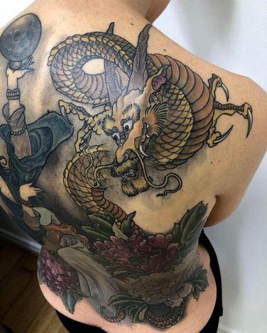 'Nuwa'- Chinese Goddess full back coverup