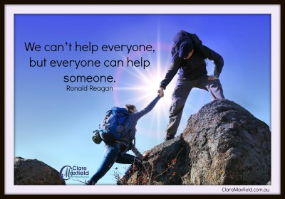 Start with helping just one person