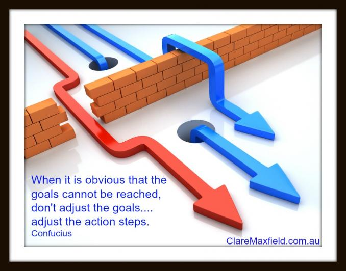 When it is obvious that the goals cannot be reached, don't adjust the goals, adjust the action steps