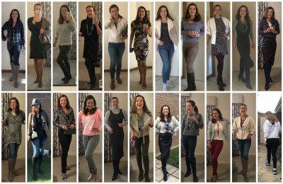days 1-20 images of 100 days of 100 outfits