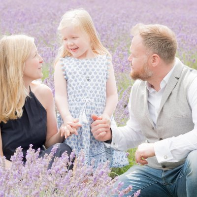 Family Photography at Mayfield Lavender Fields in Banstead