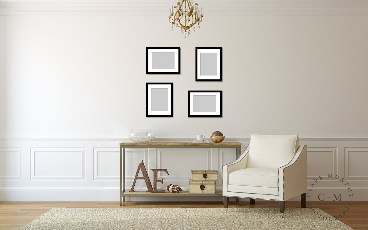 Create a gallery wall with family photos