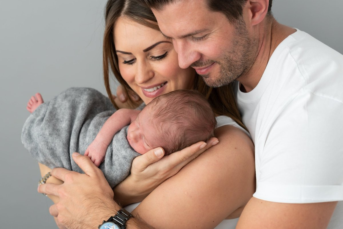 Parents with newborn baby-7