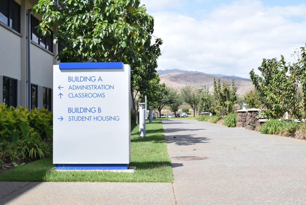 Tokai signage on campus