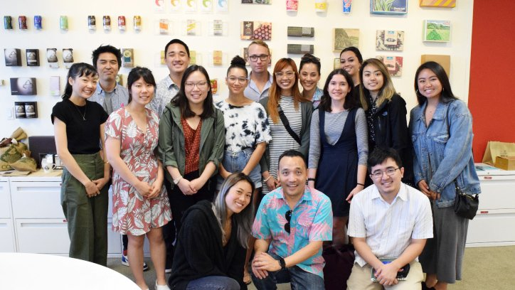 UH Graphic Design Students' Office Tour