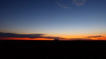 Venus and Jupiter over Uluru
