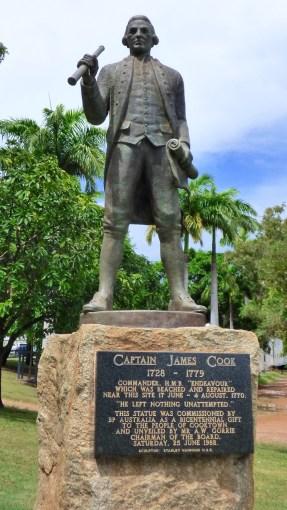 Captain James Cook's statue