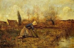 Farmer-Kneeling-Picking-Dandelions