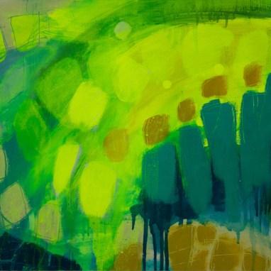 Rushing In 47cm x 36.5cm Oil on paper