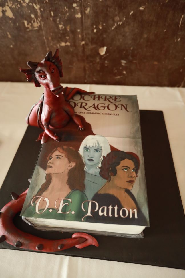 Launch party cake: The Ochre Dragon