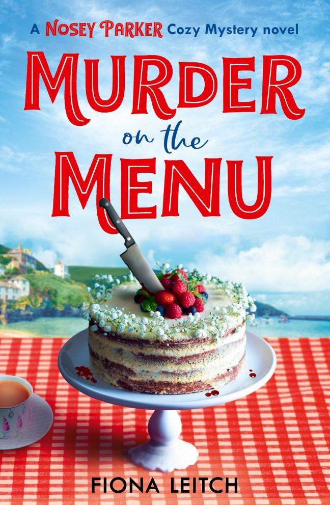 book cover, Murder on the Menu