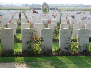 Australian headstones at Tyne Cot cemetery
