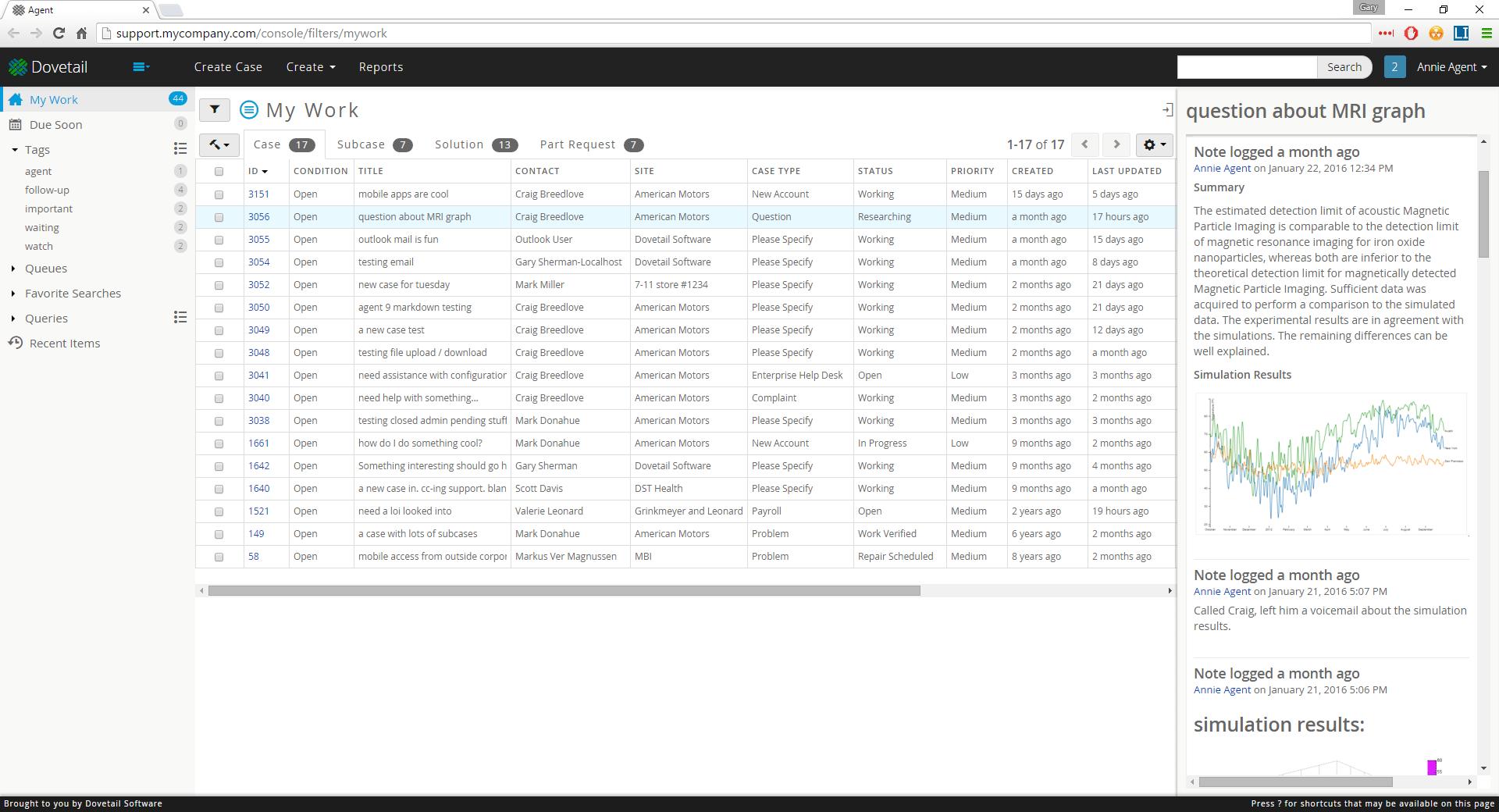 Dovetail Agent, Clarify help desk, Clarify CRM, Amdocs Clarify