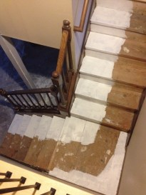 Last weekend included applying Kilz to my stairs (which will have carpet) to block a residual pet odor. So far, so good.
