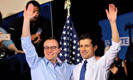 Supporters Cheer Pete Buttigieg Kissing Husband Chasten at 2020 Campaign Kick Off