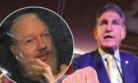Joe Manchin Defends Julian Assange's Arrest: 'He's Our Property'