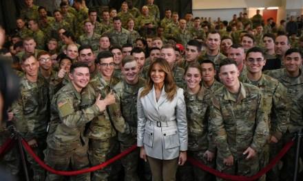 PHOTOS: Melania Trump Dazzles American Troops in North Carolina
