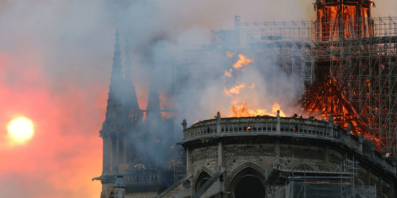 Paris: Notre-Dame Cathedral Burns, Charred Timbers of Medieval Spire Collapse