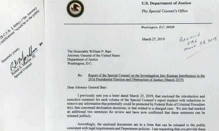 Text of special counsel's letter to attorney general