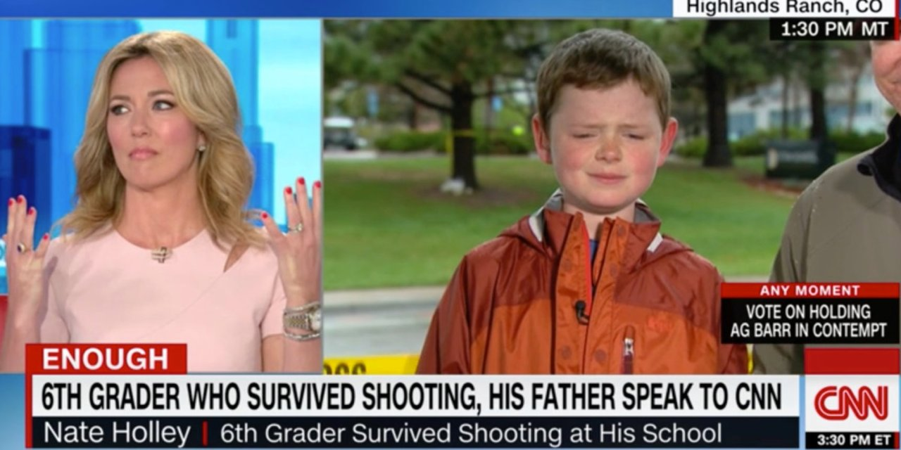 12-year-old stuns CNN's Brooke Baldwin into silence with description of what he did during Colorado shooting: 'I was gonna go down fighting'