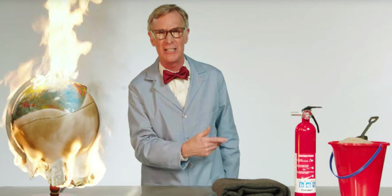 Bill Nye loses it and melts down over climate change, goes on expletive-laden rant during late-night show