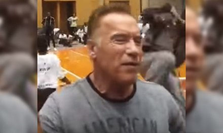 WHAT? Video shows Arnold Schwarzenegger attacked by man in South Africa shouting… something