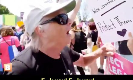 Unhinged feminists show their true colors of tolerance when faced with a female pro-life demonstrator