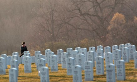 This Catholic high school quietly holds funerals for homeless veterans