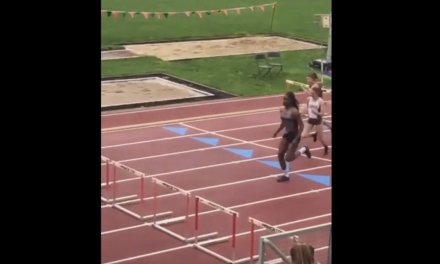 Hurdler born male but competing as female easily takes NCAA women's national championship