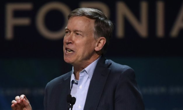 Presidential candidate John Hickenlooper was mistaken for a member of the media at the first Democratic debates