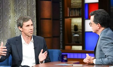 Stephen Colbert Begs Beto O'Rourke to Drop Presidential Ambitions and Run for Senate Again