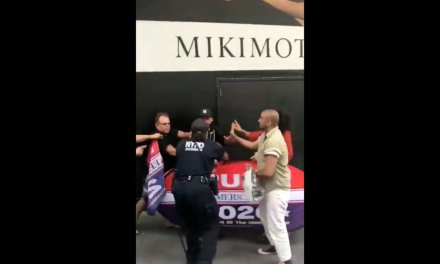 Trans actress is caught in viral video fighting a Trump supporter who was only posing with a Trump sign. He responds with kindness.