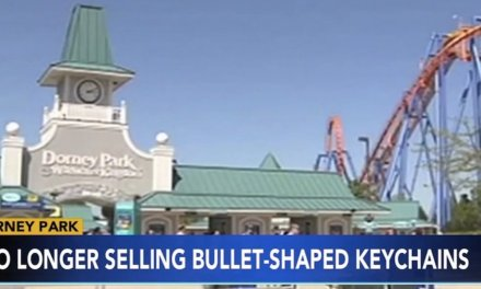 Bullet key chains pulled from amusement park gift shop after complaint. But some call PC decision ridiculous: 'Lighten up!'