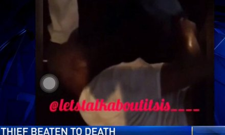 Man steals car with kids inside, Dad chases him down, beats him to death, with help from crowd
