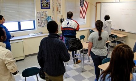Teacher blasts students who don't stand for Pledge of Allegiance. Then he's booted from classroom.