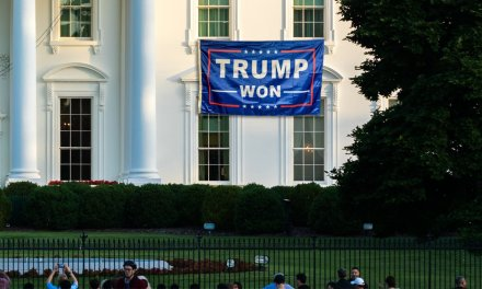Tired Of Being President, Biden Hangs 'Trump Won' Sign Out Of White House Window