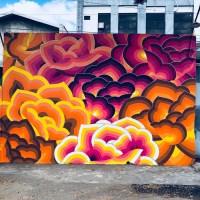 Bangkit/Arise – Jet Martinez mural – Desa Panggungharjo