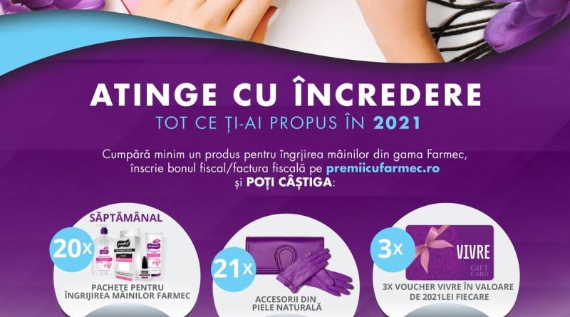 """Farmec lansează campania """"Atinge cu încredere tot ce ți-ai propus în 2021"""""""