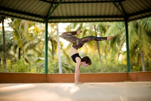 Yoga Handstand in India