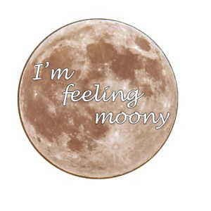 I'm Feeling Moony sticker Clarissa Mae Yoga