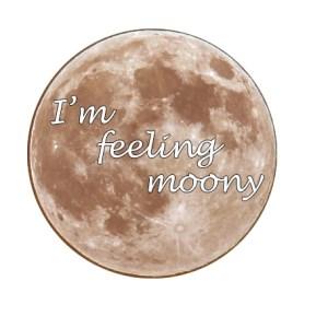I'm Feeling Moony sticker Clarissa Mae Yoga