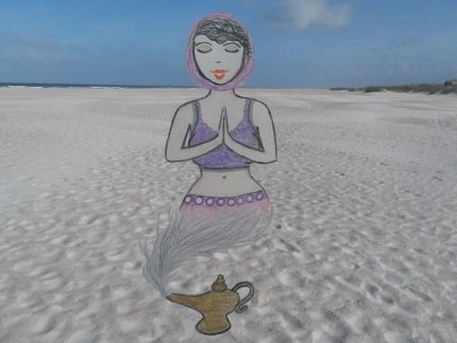 Arab genie girl